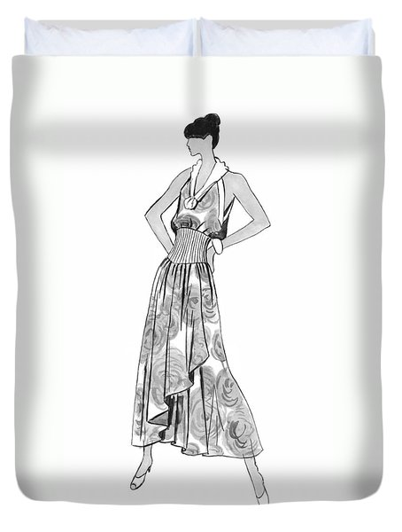 It's Sarong It's Right Duvet Cover by Sarah Parks