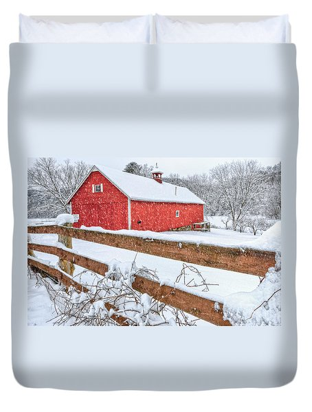 It's Snowing Duvet Cover by Bill Wakeley