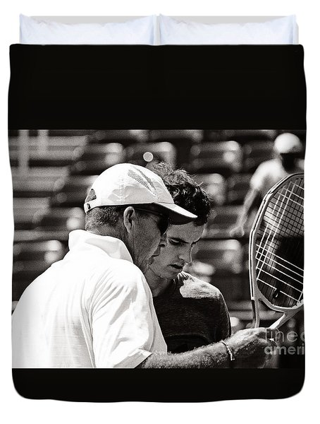 Ivan Lendl And Andy Murray  Duvet Cover by Nishanth Gopinathan