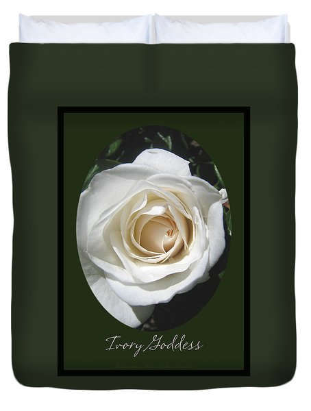 Duvet Cover featuring the photograph Ivory Goddess - Roses From The Garden by Brooks Garten Hauschild