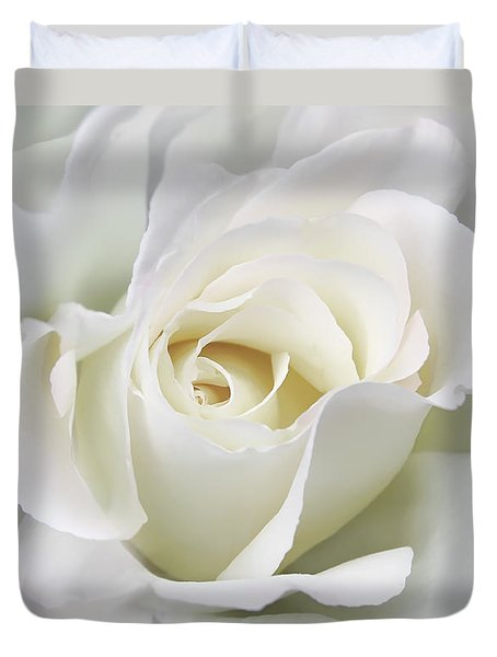 Ivory Rose Flower In The Clouds Duvet Cover