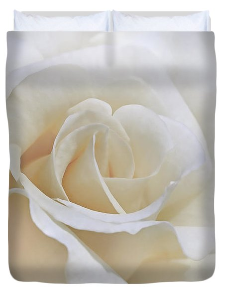 Ivory Rose In The Clouds Duvet Cover