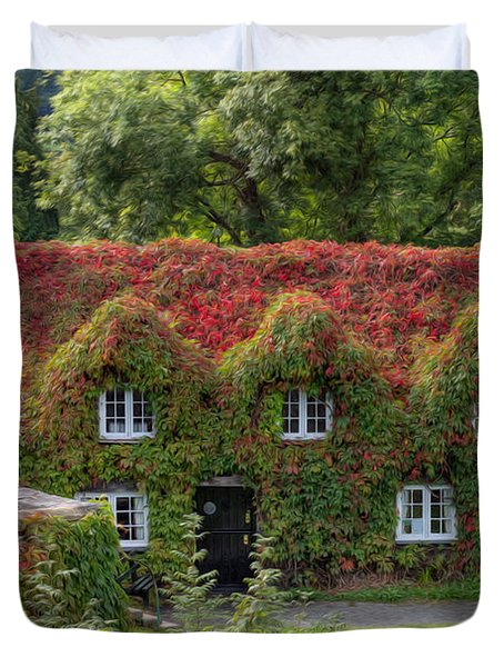 Ivy Cottage Duvet Cover by Adrian Evans
