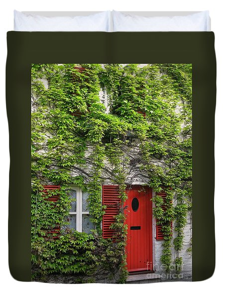 Ivy Cottage Duvet Cover by Ann Horn