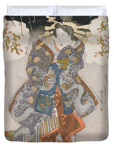 Iwai Kumesaburo II As A Courtesan Duvet Cover