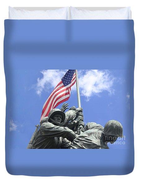 Iwo Jima Memorial Duvet Cover
