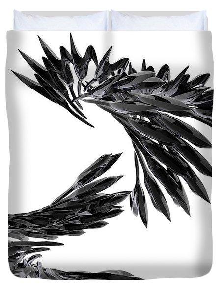 J Big   Crows Duvet Cover