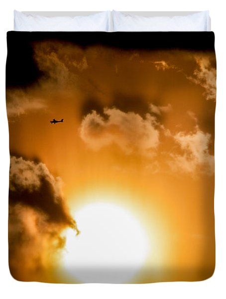 Duvet Cover featuring the photograph Jabiru Sunset Cloud by Paul Job