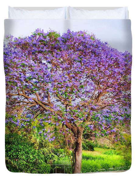 Jacaranda 4 Duvet Cover by Dawn Eshelman
