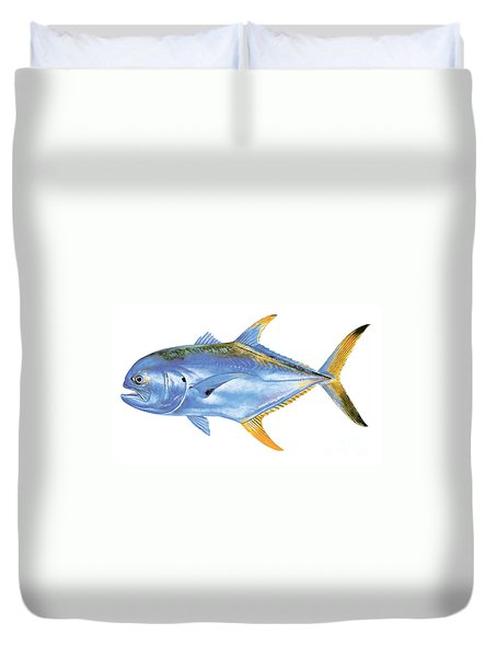Jack Crevalle Duvet Cover by Carey Chen