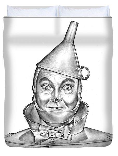 Jack Haley As The Tin Man Duvet Cover by Greg Joens