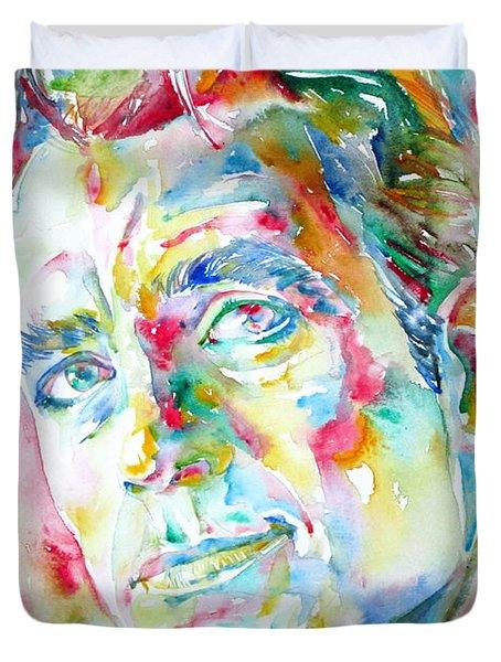 Jack Kerouac Portrait.1 Duvet Cover by Fabrizio Cassetta
