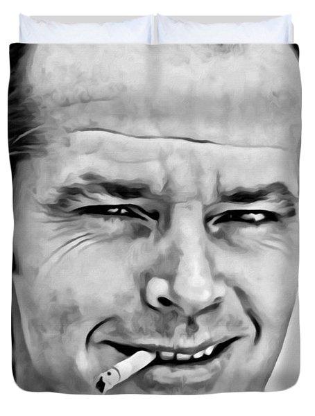 Jack Nicholson Duvet Cover by Florian Rodarte