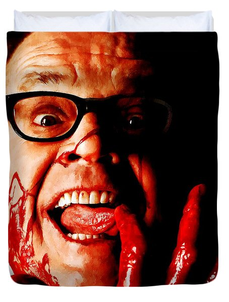 Jack Nicholson Painted From Photo Of Matthew Rolston Duvet Cover
