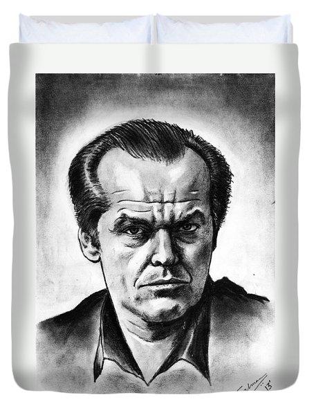 Jack Nicholson Duvet Cover by Salman Ravish