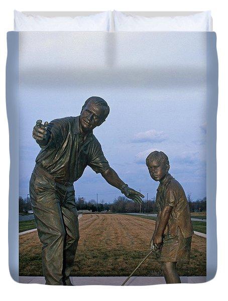 36u-245 Jack Nicklaus Sculpture Photo Duvet Cover