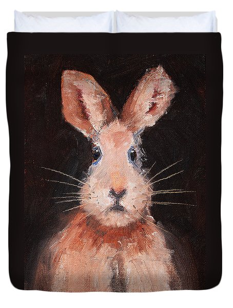 Jack Rabbit Duvet Cover by Nancy Merkle