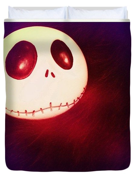Jack Skellington Glowing Duvet Cover