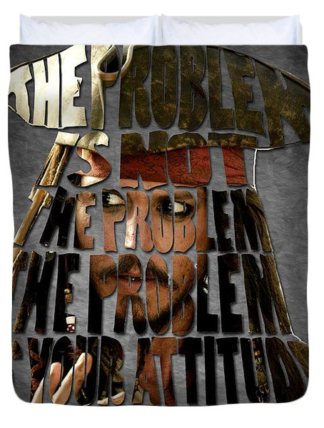 Jack Sparrow Quote Portrait Typography Artwork Duvet Cover