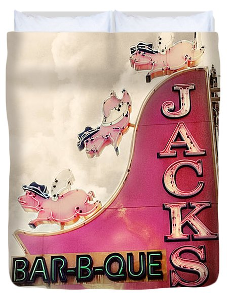 Jacks Bbq Duvet Cover by Amy Tyler
