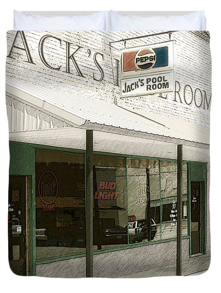 Jack's Pool Room Duvet Cover