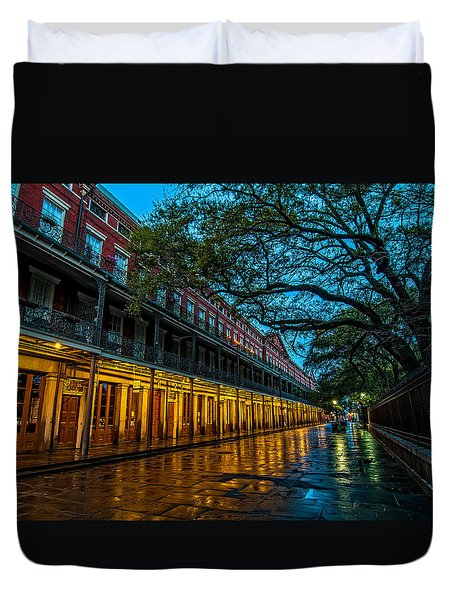 Jackson Square At Dawn Duvet Cover