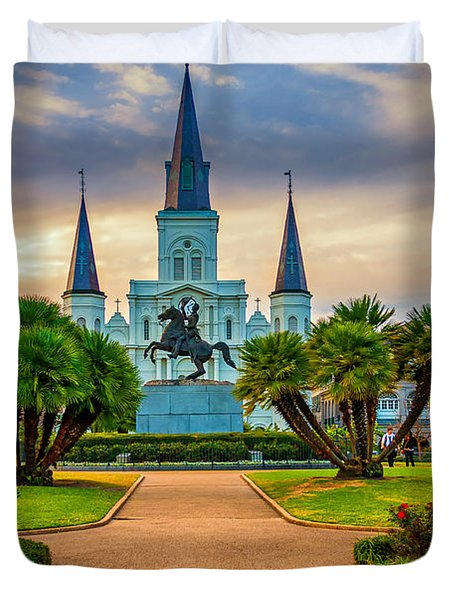 Jackson Square Cathedral Duvet Cover by Steve Harrington