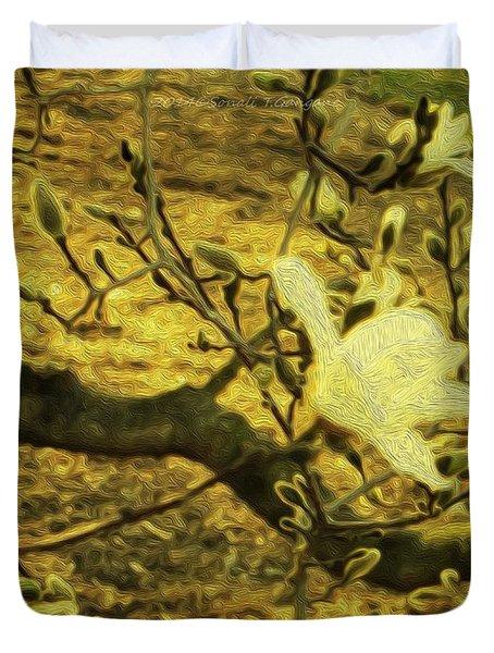 Jade Orchid Duvet Cover by Sonali Gangane
