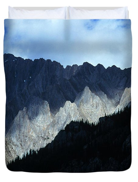 Jagged Mountains Of Banff National Duvet Cover