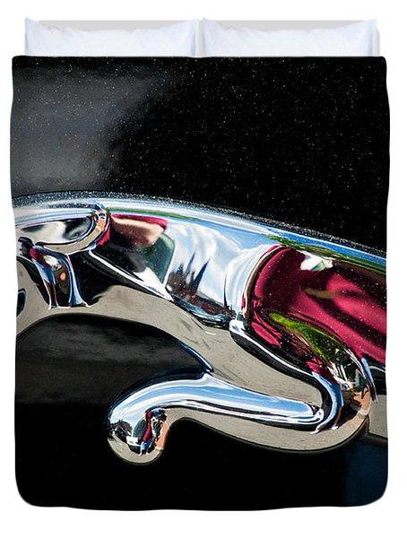 Jaguar Car Emblem Duvet Cover