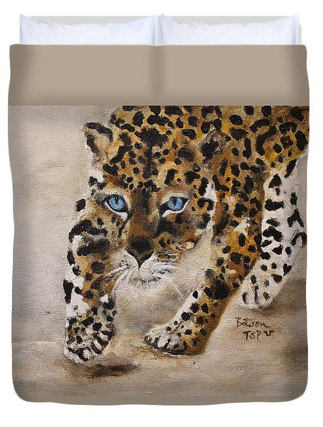 Big Cat Stalk Duvet Cover