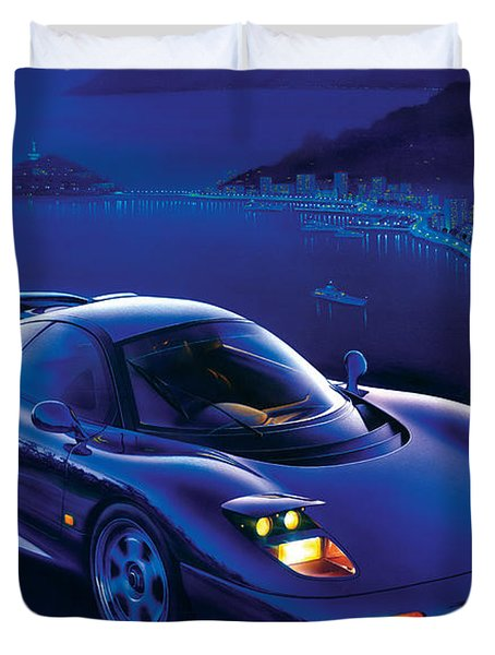 Jaguar Xjr-15 Duvet Cover by Garry Walton