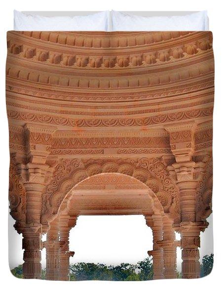 Jain Temple Entrance - Amarkantak India Duvet Cover by Kim Bemis