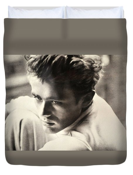James Dean Black And White Duvet Cover