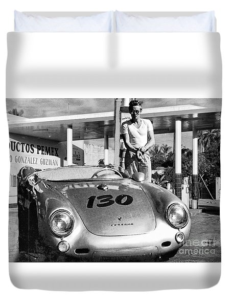 Last Picture Taken Of James Dean Duvet Cover