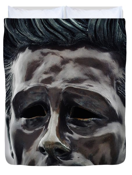 Duvet Cover featuring the photograph James Dean The Rebel by Kyle Hanson