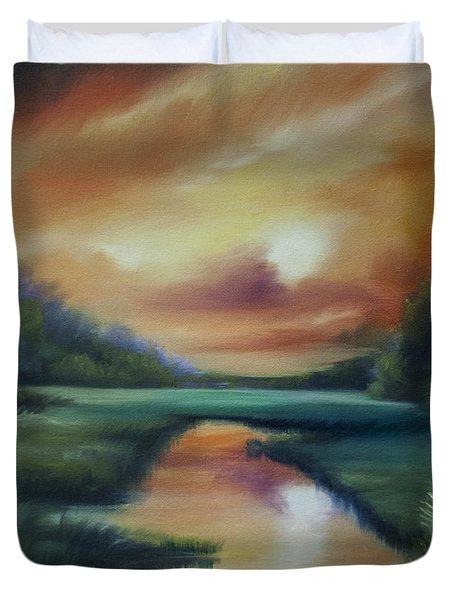 James Island Marsh Duvet Cover by James Christopher Hill
