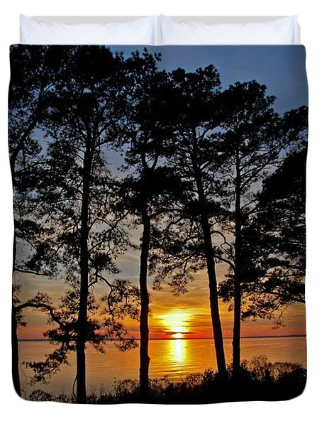 James River Sunset Duvet Cover