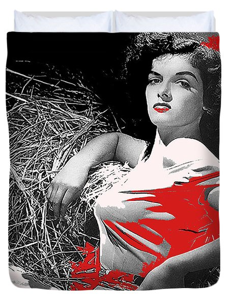 Jane Russell George Hurrell Photo The Outlaw C.1943-2013 Duvet Cover