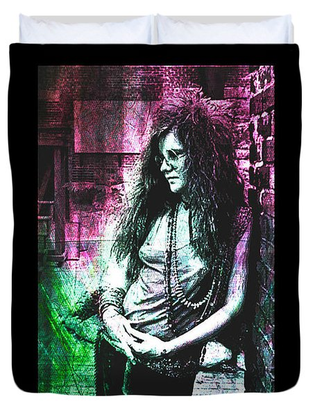 Janis Joplin - Pink Duvet Cover