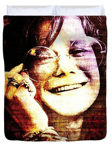 Janis Joplin - Upclose Duvet Cover