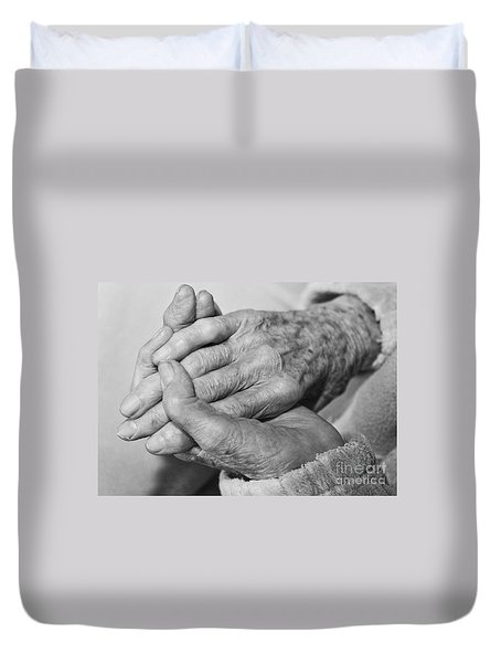 Jan's Hands Duvet Cover