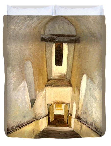 Jantar Mantar Staircase Duvet Cover by Mukta Gupta