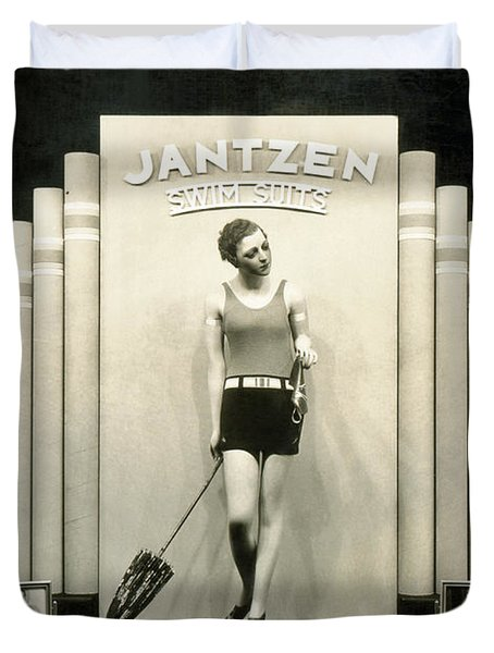 Jantzen Swim Suit Display Duvet Cover