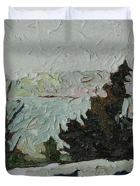January Grays Duvet Cover