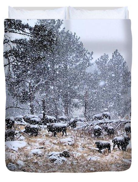 January Snow Duvet Cover