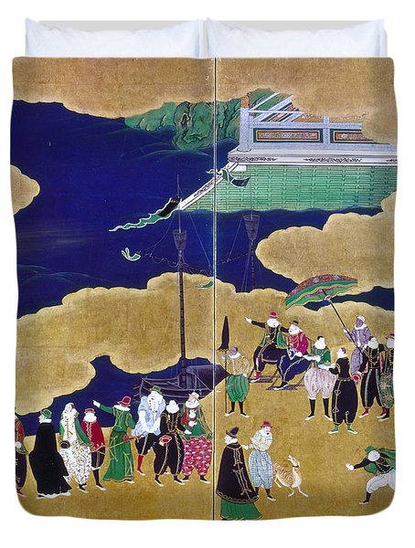Japan Portuguese Traders Duvet Cover