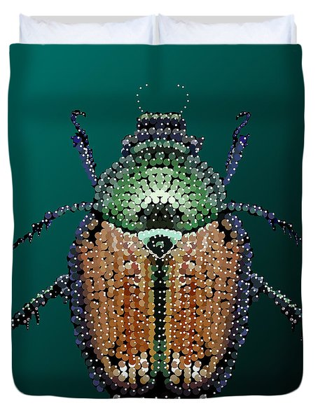 Japanese Beetle Bedazzled II Duvet Cover