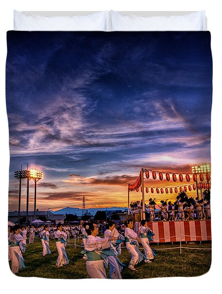 Japanese Bon Adori Festival Duvet Cover
