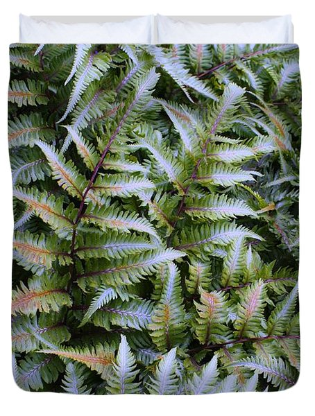 Duvet Cover featuring the photograph Japanese Ferns by Kathryn Meyer